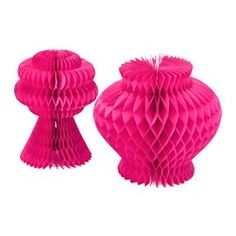 VISIONÄR, Decoration set of 2, cerise