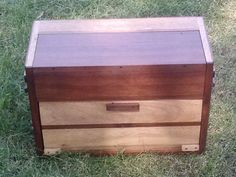 Reclaimed  Mahogany and Black Walnut Portable Bar crafted by L. Design Reclaimed.