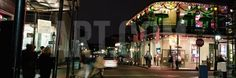 Louisiana, New Orleans, French Quarter, Illuminated Street at Night Photographic Print by Panoramic Images at Art.com