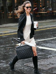 South Molton St Style: [Loving] Pippa Middleton in H&M Lace Dress