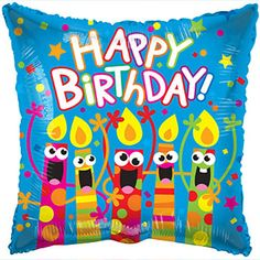 Happy Birthday Singing Candles Foil Balloons 18 In