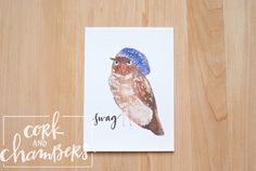 These hipster animals are sold as a pack of 4, so you get all of them. The owl, the mouse, the cat and the goat are each adorned with some unique attire. Each was originally hand painted watercolor and were digitally scanned and printed. These animals make a great addition to any gallery wall or 4 opening frame. They are 5x7 and printed on white card stock.