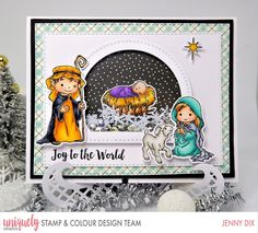 I am back with the Winner for this adorable stamp from Uniquely Creative My First Christmas and it is Miranda Slagboom-de Groot. First Christmas, Christmas Crafts, Color Kit, Colour, Mft Stamps, Joy To The World, Creative Cards, Cute Cards, Homemade Cards