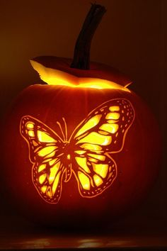 Butterfly Pumpkin Carving by Norbini, via Flickr.  Repinned by An Angel's Touch, LLC, d/b/a WCF Commercial Green Cleaning Co. Denver's Property Cleaning Specialists.  http://www.angelsgreencleaning.net/Detailed-Cleaning-Services.html