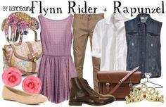 Flynn Rider & Rapunzel by disneybound