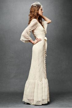 BHLDN wedding dresses. The 70's inspired one above is amazing. It would be awesome to actually get married in a vintage dress. Shame my...