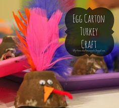 School Time Snippets: Egg Carton Turkey Craft {Fine Motor Friday}