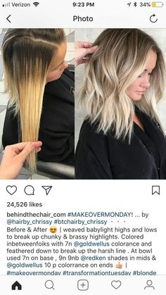Bouncy Waves - 40 Ash Blonde Hair Looks You'll Swoon Over - The Trending Hairstyle Ombre Hair, Balayage Hair, Purple Hair, Bayalage, Baylage Blonde, Brassy Blonde, Honey Balayage, Brown Balayage, Gold Hair