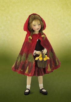 maggie made dolls | ... the art of felting Maggie created this one piece hooded cape for Red