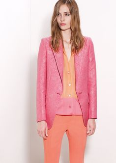 stella mccartney. Love the color block with corals