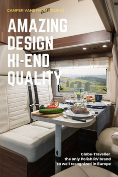 Globe-Traveller is the only Polish RV manufacturer so well recognised in Europe! Rv Manufacturers, Van Home, Camper Van, Peugeot, Poland, Dining Bench, Globe, Vans, Europe
