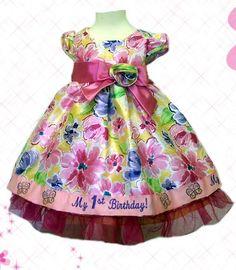 59cfac93f Nannette Floral First Birthday Dress - 12 MO D290 First Birthday Dresses,  Baby Girl First