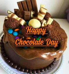 Chocolate Day Images For Whatsapp || Beautiful Chocolate Day Images For Whatsapp || Chocolate Day Lines - Mixing Images Valentine Chocolate, Chocolate Box, Chocolate Recipes, Good Morning Images, Happy Chocolate Day Images, Sandra Boynton, World's Best Food, Image Hd, Birthday Cake