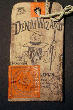 Denim Wizard Hang Tag