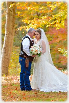 Marie and Jeff's Western-style Wedding in the Woods at Lightwood House Plantation