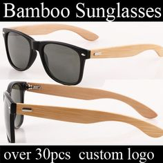 Zl001 Bamboo Wayfarer Wholesale Sunglasses China Promotion Custom Logo Sun…