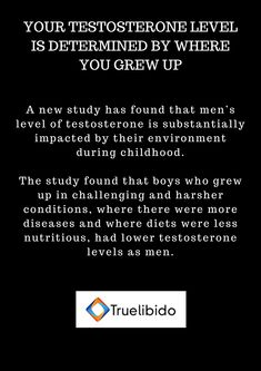 Your #Testosterone Level Is Determined By Where You #GrewUp