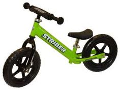 Strider No-Pedal Balance Bike. Instead of a tricycle as a first bike, kids scoot along until they are ready for their big bike AND without the need for training wheels! Toddler Bike, Toddler Fun, Balance Bike, Striders, Kids Running, Inspiration For Kids, Tricycle, Cool Bikes, Cool Toys