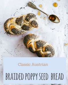 These braided poppy seed buns are not only tasty but also so much fun to make! Poppy Seed Bread, New Pins, Buns, Poppies, Cereal, Seeds, Braids, Tasty, Breakfast