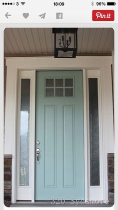 Tardis blue front door (Sherwin Williams Nifty turquoise with ...