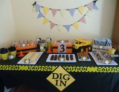 """Construction party / Birthday """"Construction 3rd Birthday!""""   Catch My Party"""