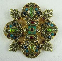 Michal Golan Pendant Brooch Combination by VintageSparkleyBits