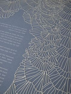 Papercut Ketubah - Ruffles. Check out her etsy shop, Jenn. Her ketubahs are stunning!