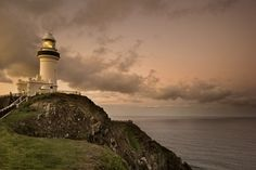 Image detail for -Dusk at the beautiful Cape Byron lighthouse in Australia.