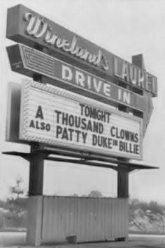 Wineland's Laurel Drive In Theater.