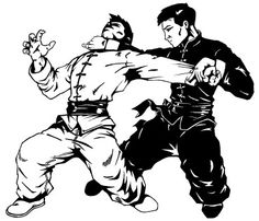 Chinese Gung Fu Technique Illustration.