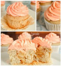 Peaches n' Cream Cupcakes Recipe with Fresh Peach Puree & Filling and Peaches n' Cream Frosting