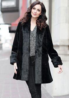 Black Sheared Beaver Tuxedo Faux Fur Coat - <3 <3 <3