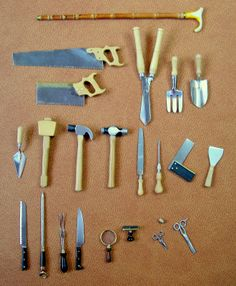 "Wonderful collection of miniature ""tools"" of all sorts..."