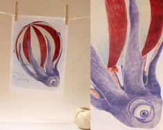 Auf Anne Grön's DaWanda -Shop gibt es jetzt den ersten der sieben Oktopoden.  Changing the Elements | A4 Druck | Oktopoden von Anne Grön auf DaWanda.com