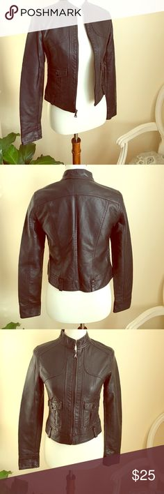 Woman's faux leather jacket Black faux leather jacket in EUC. Worn a few times. Perfect for the Fall Season! Jackets & Coats