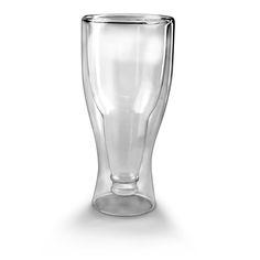 Hopside Down, A Beer Glass Shaped Like an Upside Down Beer Bottle Inside of a Regular Glass