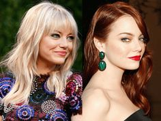 Blonde or Red: Which Look Is Best On These Celeb Redheads? — How to be a Redhead Blonde Redhead, Red Blonde Hair, Blonde Balayage, Blonde Highlights, Emma Stone Hair Color, Emma Stone Blonde, Red Hair Color, Before After Hair, Red Hair To Blonde Before And After