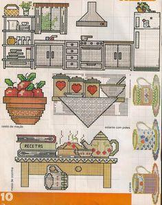 Cross Stitching, Cross Stitch Embroidery, Cross Stitch Patterns, Cross Stitch Kitchen, Cross Stitch Collection, Food Patterns, Cross Stitch Heart, Chart Design, Needlework