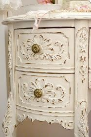 A French dark walnut desk, painted and distressed. Jennelise: A Painted Room