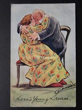 Cynicus: Romance Theme, LOVES YOUNG DREAM (Huges & Kisses) - c1905 by Cynicus Kisses, Romance, Painting, Cards, Romance Film, Romances, Painting Art, A Kiss, Paintings