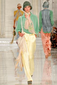 Ralph Lauren Spring 2012 Ready-to-Wear Fashion Show - Valentina Zelyaeva
