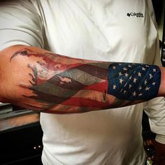 630d99c5a4b3f 56 Best American Flag Tattoos for Men images in 2018 | Tattoos for ...
