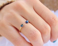 Raw Lapis Lazuli Gold stacking ring, delicate rings, stack rings, This list is for one super cute and tiny Lapis Lazuli ring. Set of 2 for a discounted price : https://www.etsy.com/listing/249803857/2-opal-ring-opal-sterling-silver-ring?ref=shop_home_active_1 Set of 3 for a