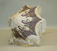 """American parasol, 1860s. That paisley has me thinking """"tentacles! steampunk!"""". metmuseum.org"""