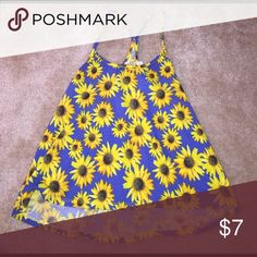 Shirt Sunflower patterned tank top, worn once LA Hearts Tops Tank Tops