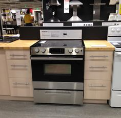 "This will be the kitchen set-up: 15"" base cabinet + stove + 15"" base cabinet + fridge = maxed out"