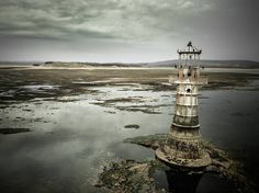 Whiteford Point lighthouse. Lit in 1865 and deactivated 1926. It's the only cast iron lighthouse left in the world. I kept my distance with this one as I didn't want to disturb Birds.