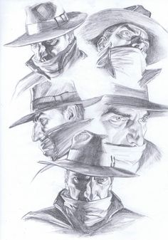 The Shadow headshots by Alex Ross