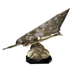 "Art Deco Metal Sculpture ""the comet"" Maurice Guiraud-Riviere, France, ca. 1925............"