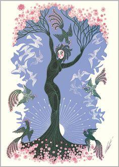 The Seasons, Spring  Artist: Erte